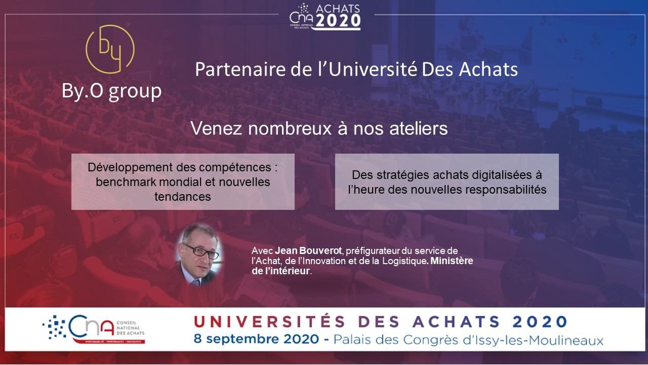 BY.O partenaire aux Universités des Achats